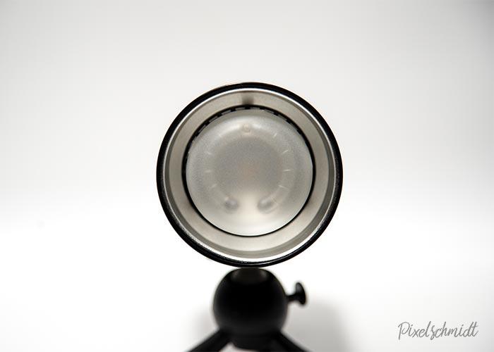 Die Blitzröhre des AD300Pro mit Schutzglas