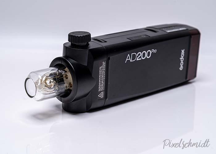 Godox AD200Pro mit Blitzröhre