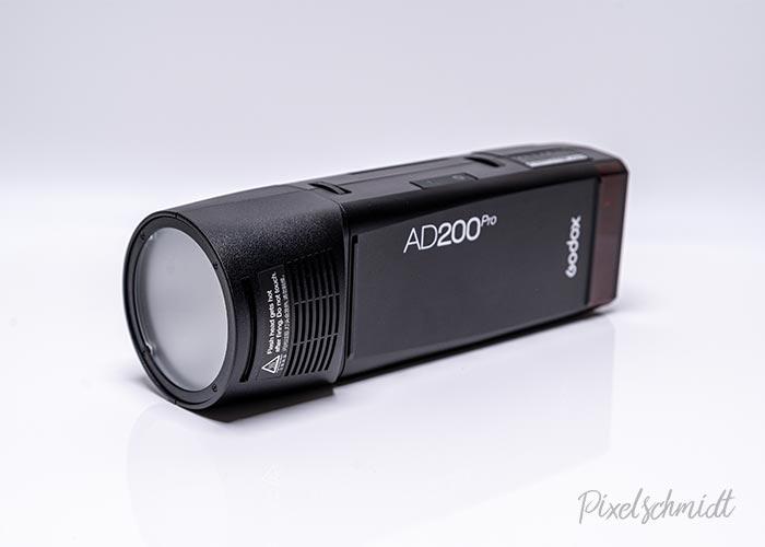 Godox AD200Pro mit rundem Blitzkopf - H200R