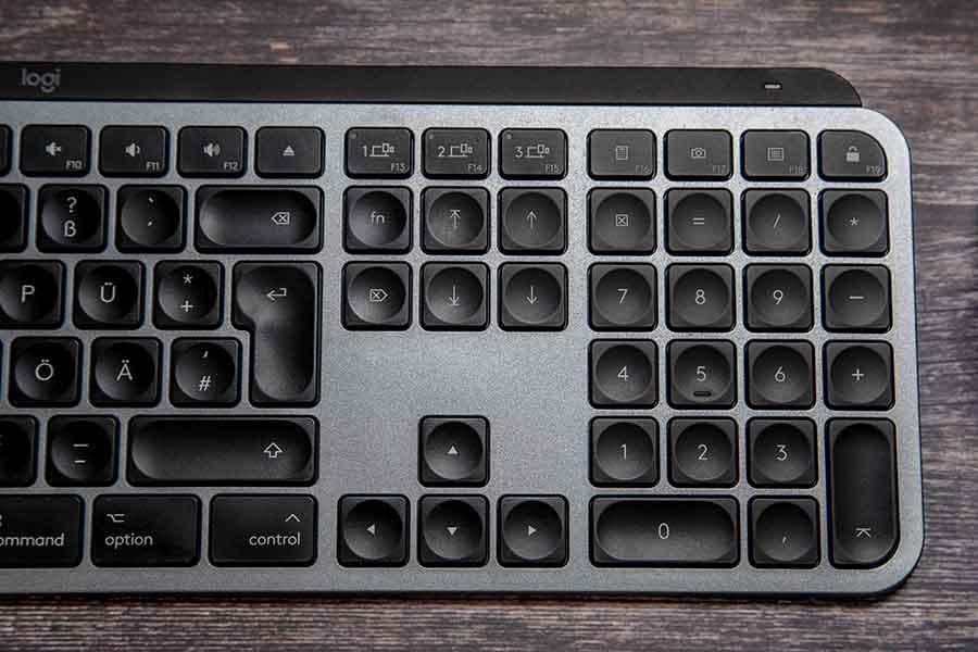 Der Ziffernblock der MX Keys
