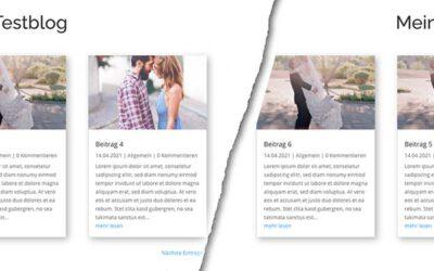 Die Seitennummerierung in WordPress und Divi ändern