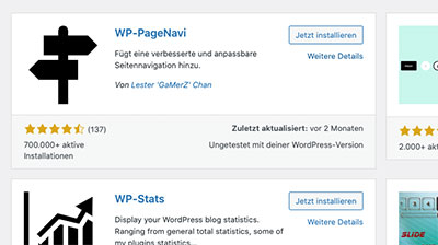 DAs kostenlose Plugin WP-PageNavi