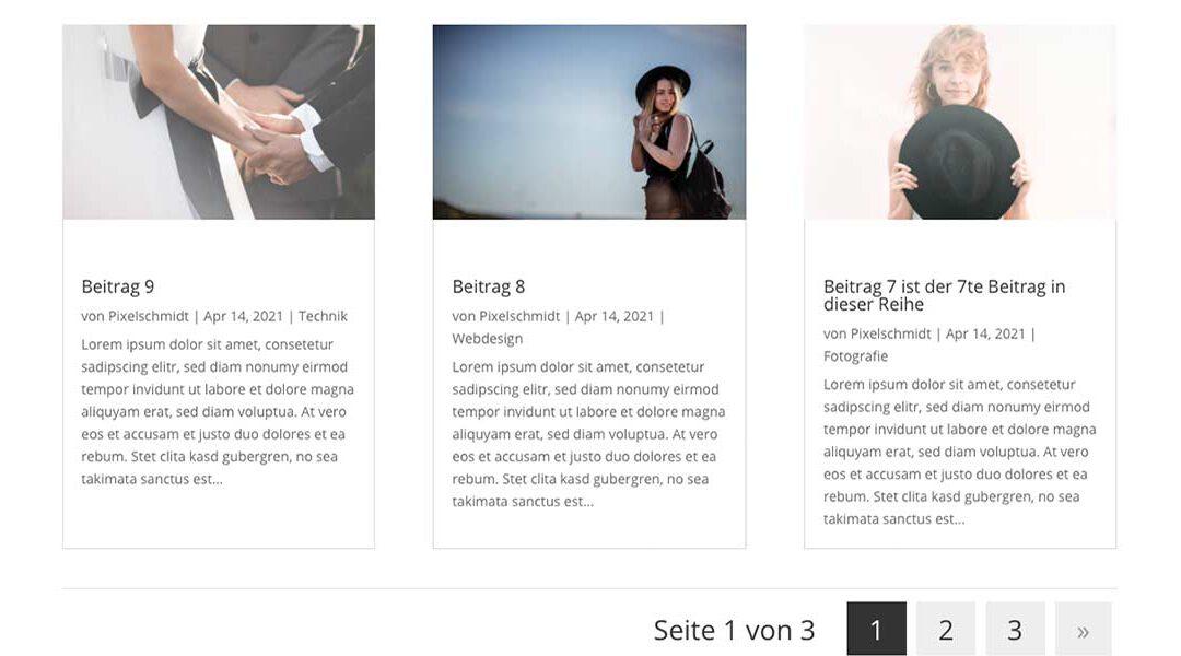 Divi und WordPress – Beitragshöhe angleichen