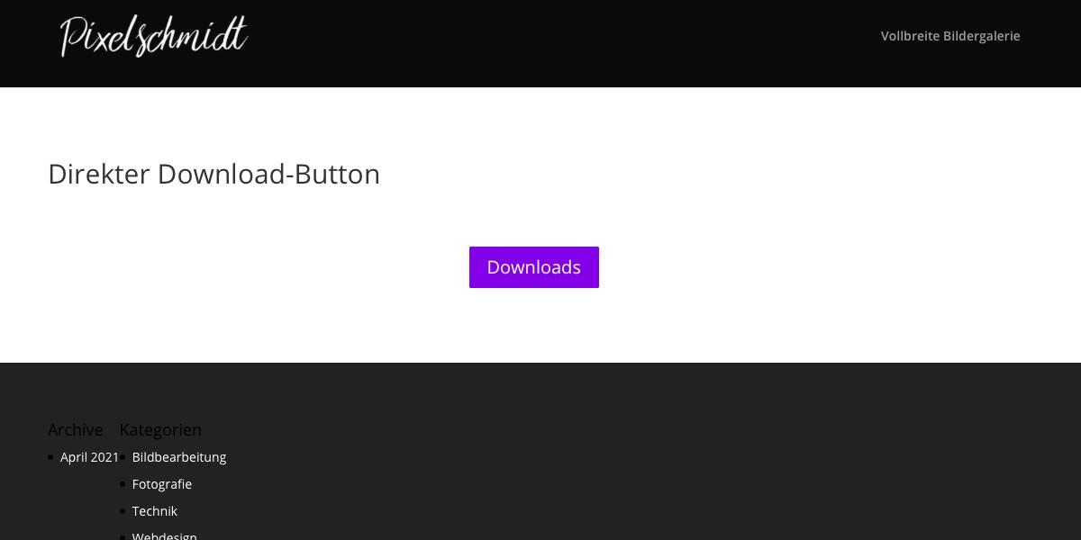 Download-Button in Divi erstellen