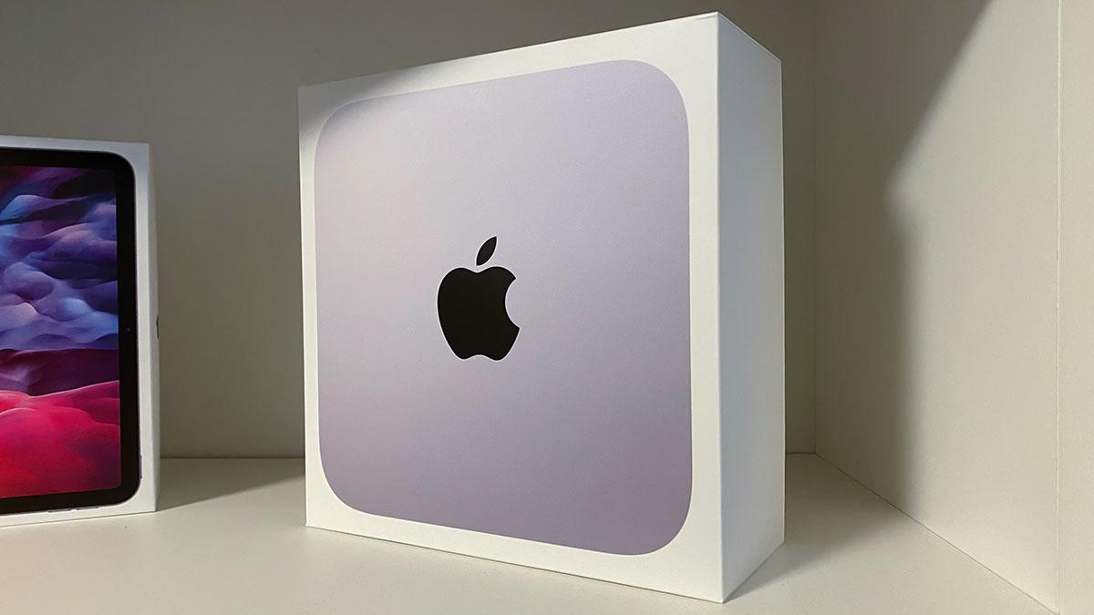 Die Verpackung des Mac Mini M1